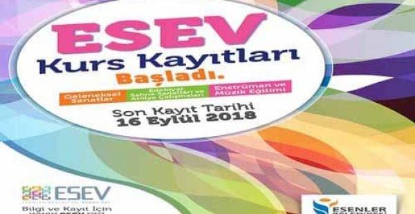 İstanbul Esenler Belediyesi ESEV Ücretsiz Kursları