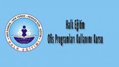 Halk Eğitim Ofis Programları Kullanımı Kursu
