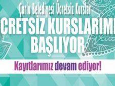 Tekirdağ Çorlu Belediyesi Ücretsiz Kurslar