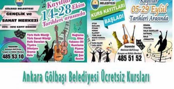 Ankara Gölbaşı Belediyesi Ücretsiz Kursları