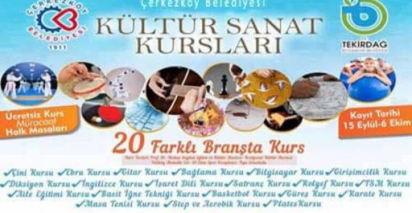 Çerkezköy Belediyesi Ücretsiz Kursları