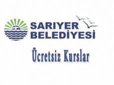 İstanbul Sarıyer Belediyesi Ücretsiz Kurslar Kurs Kayıt